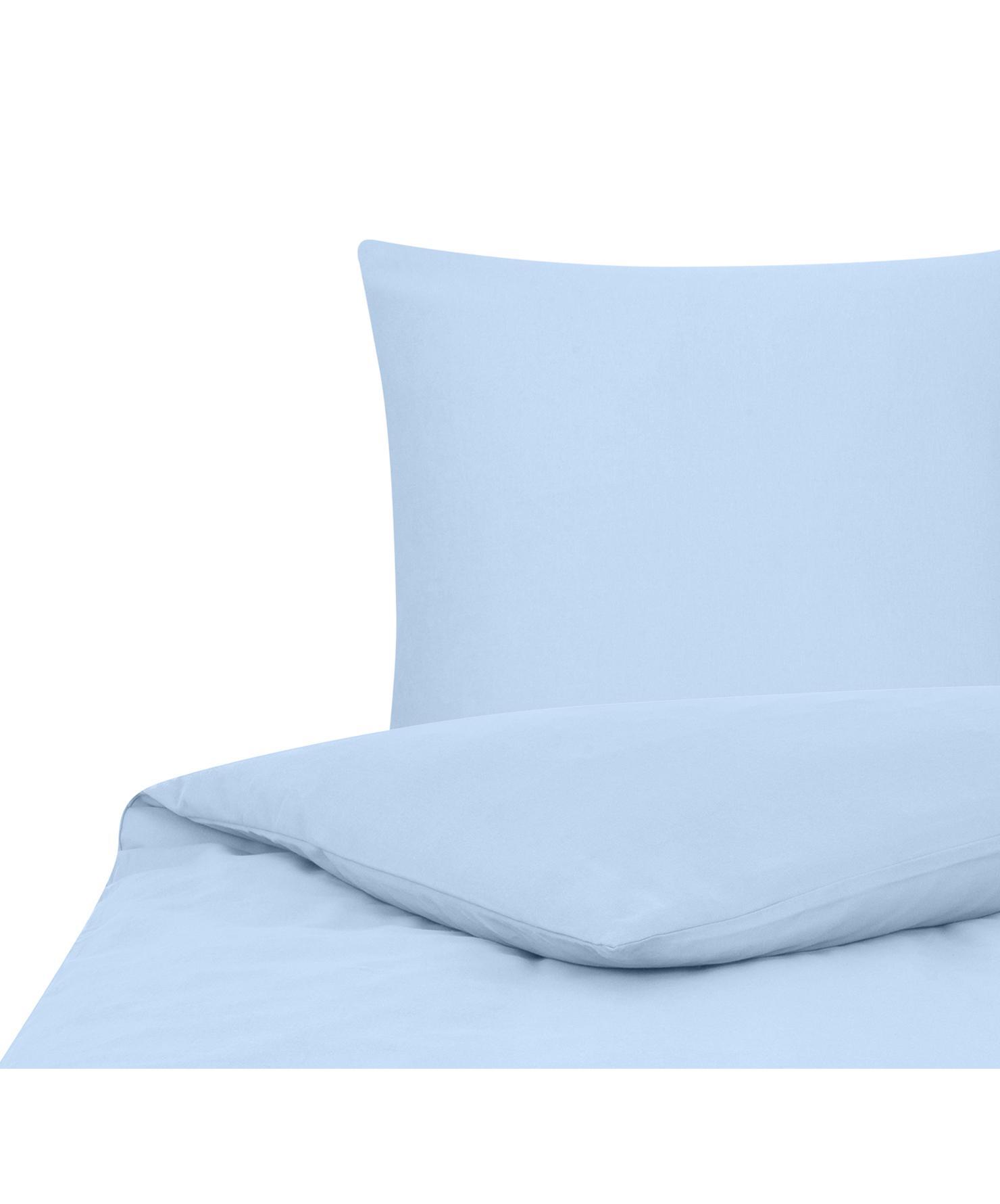 Flanell-Bettwäsche Biba in Hellblau, Webart: Flanell Flanell ist ein s, Hellblau, 135 x 200 cm + 1 Kissen 80 x 80 cm