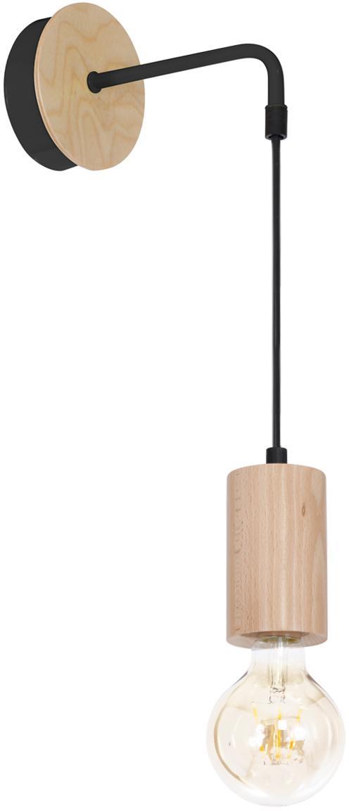Applique Lines, Legno, nero, Larg. 12 x Alt. 40 cm
