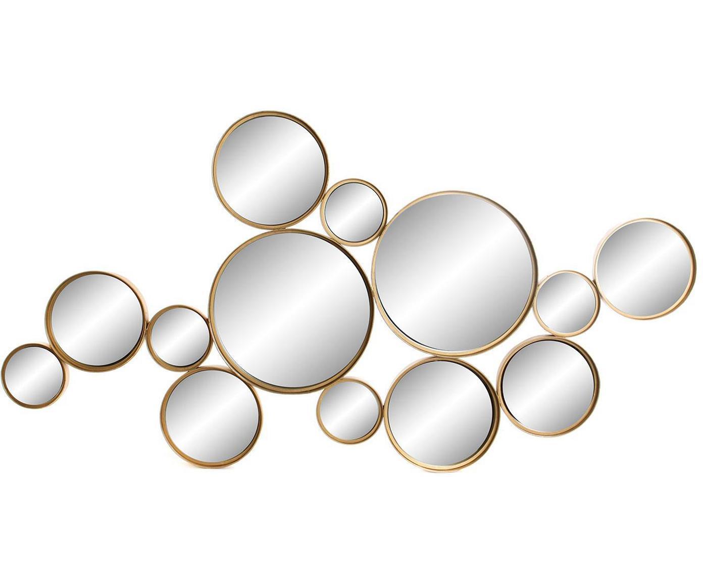 Espejo de pared Bubbles, Dorado, An 126 x Al 66 cm