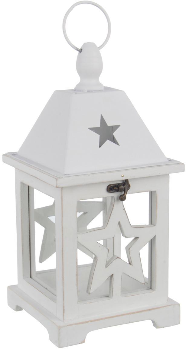 Lanterna Alinka, Struttura: legno rivestito, Bianco, Larg. 15 x Alt. 31 cm