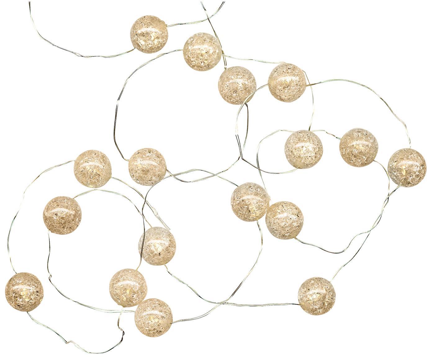 LED Lichterkette Raindrop, 140 cm, Kunststoff, Weiß, L 140 cm