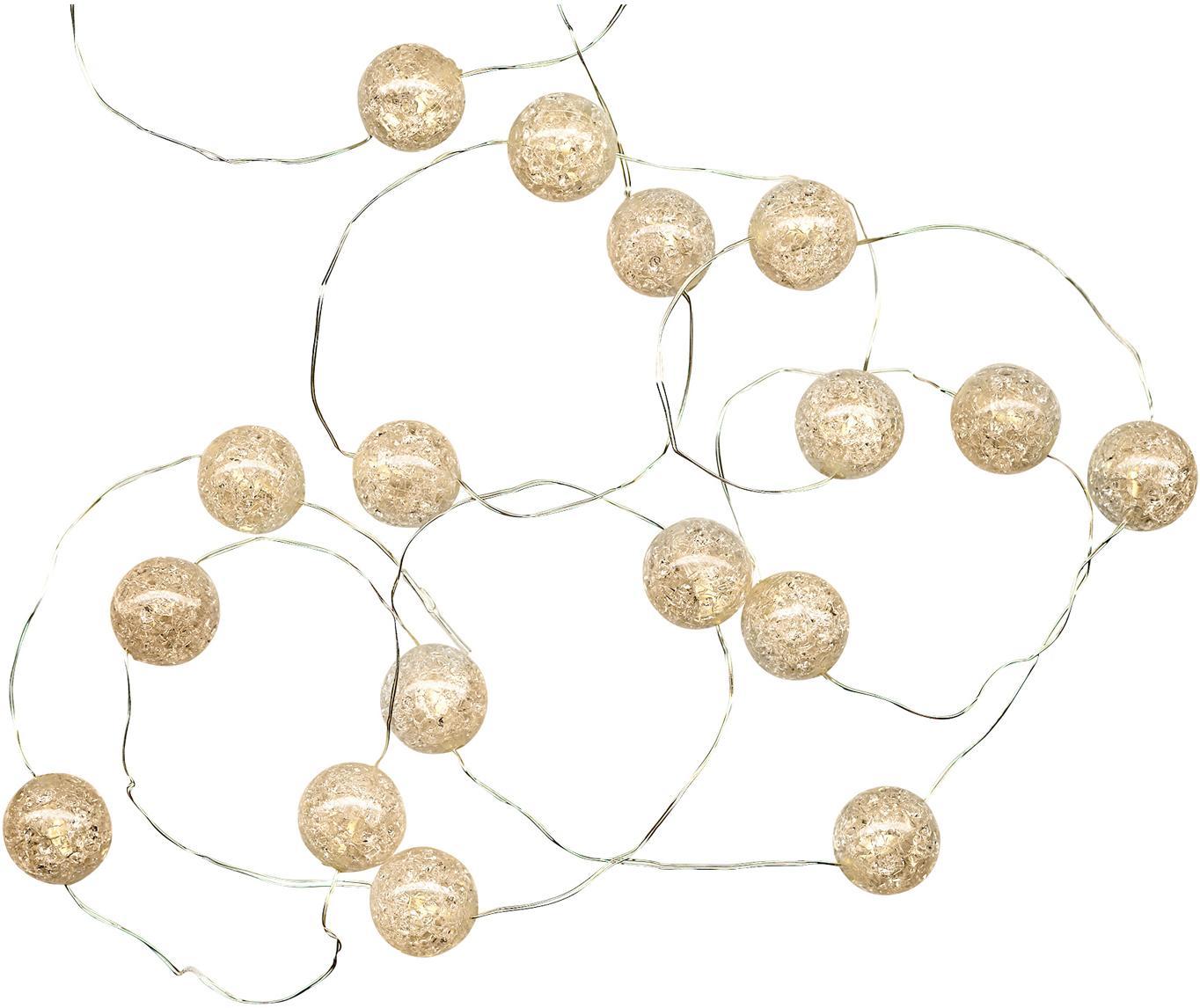 Ghirlanda  a LED Raindrop, 140 cm, Materiale sintetico, Bianco, Lung. 140 cm