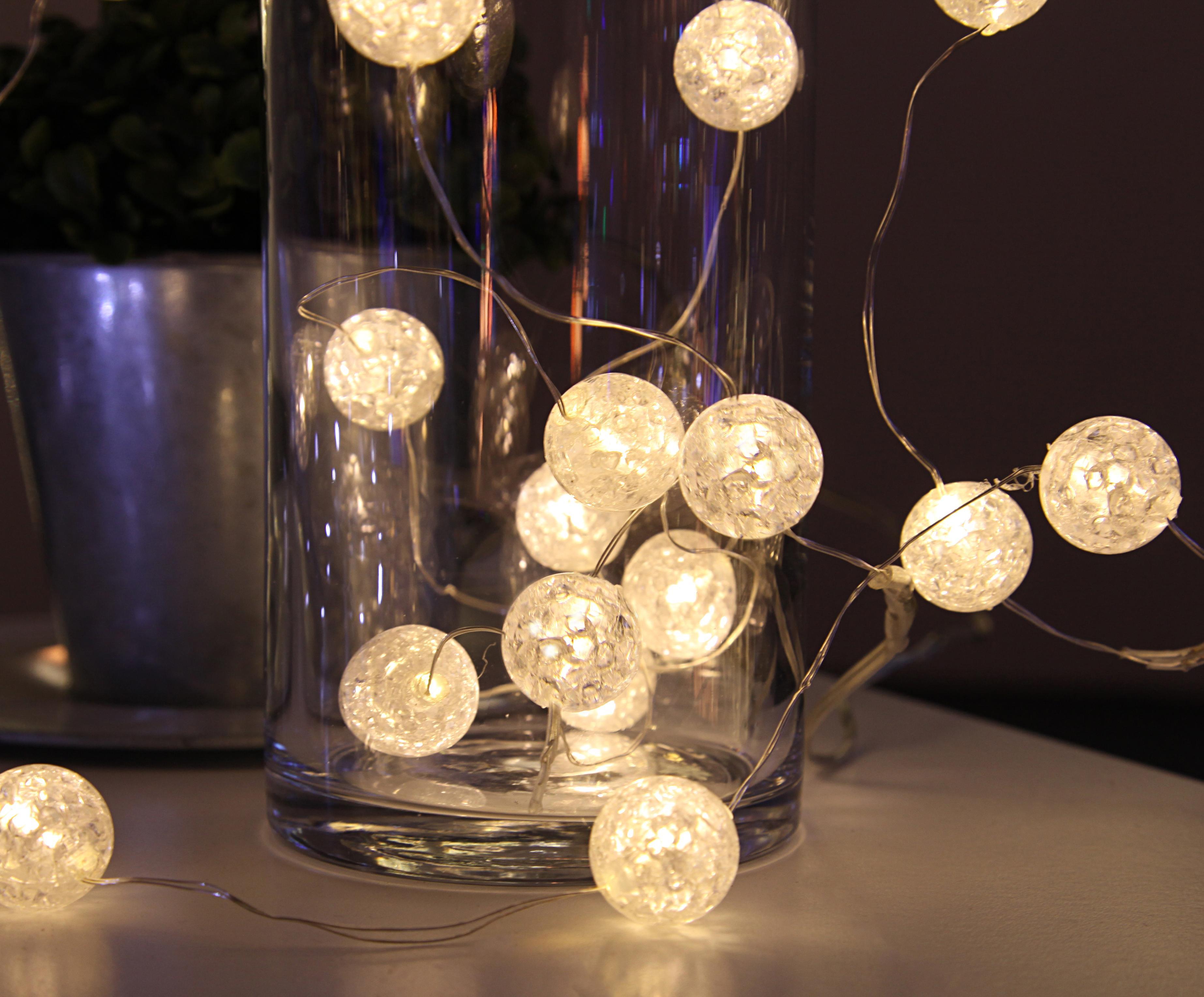 LED lichtslinger Raindrop, Kunststof, Wit, L 140 cm
