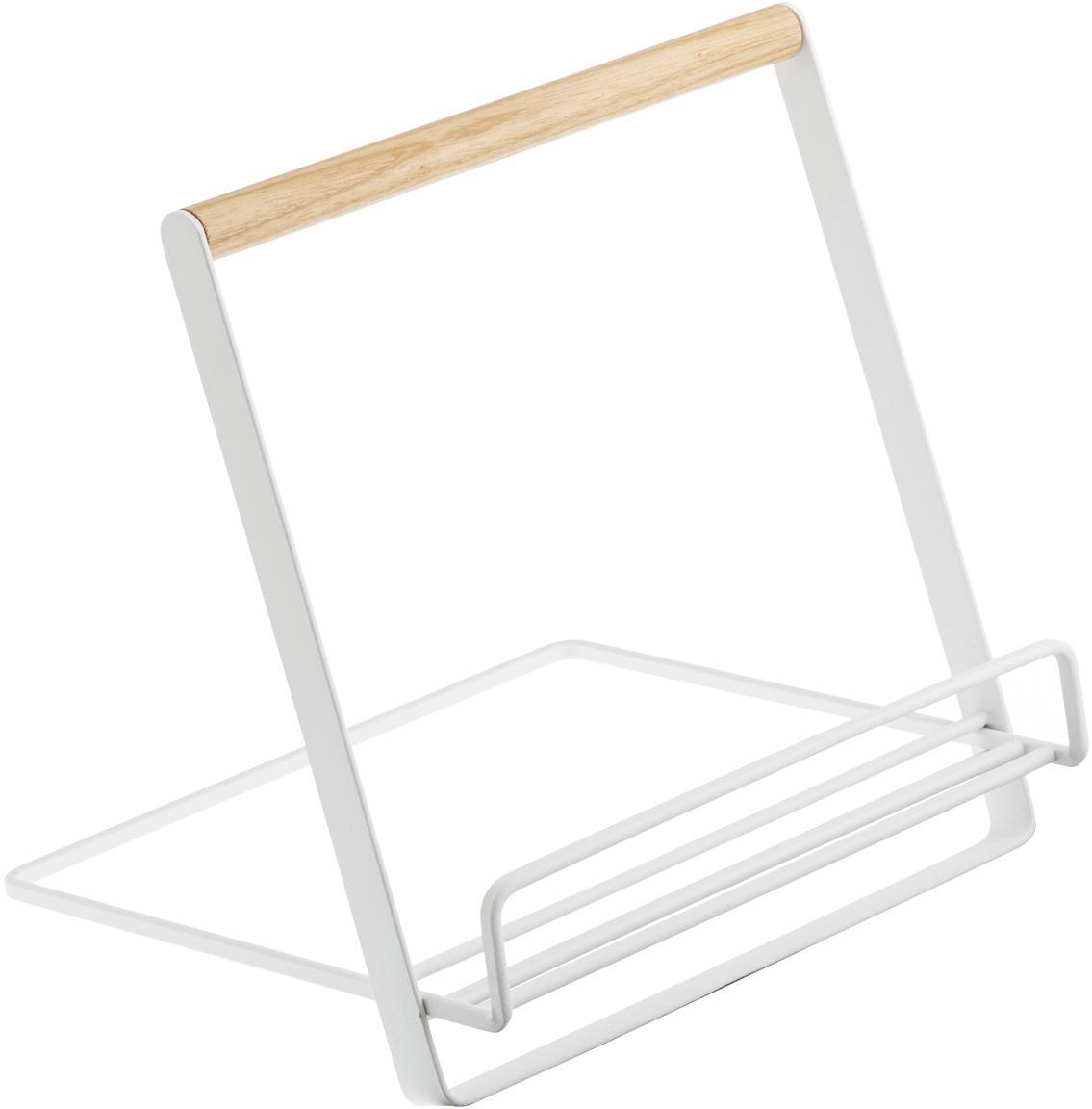 Stojak na książki kucharskie Tosca, Biały, drewno naturalne, S 20 x W 20 cm