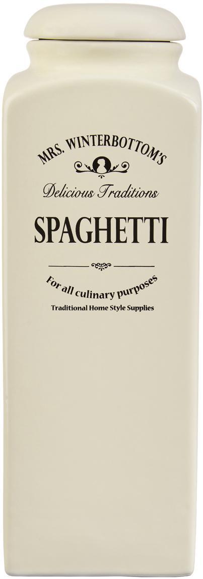 Aufbewahrungsdose Mrs Winterbottoms Spaghetti, Steingut, Creme, Schwarz, 10 x 12 cm