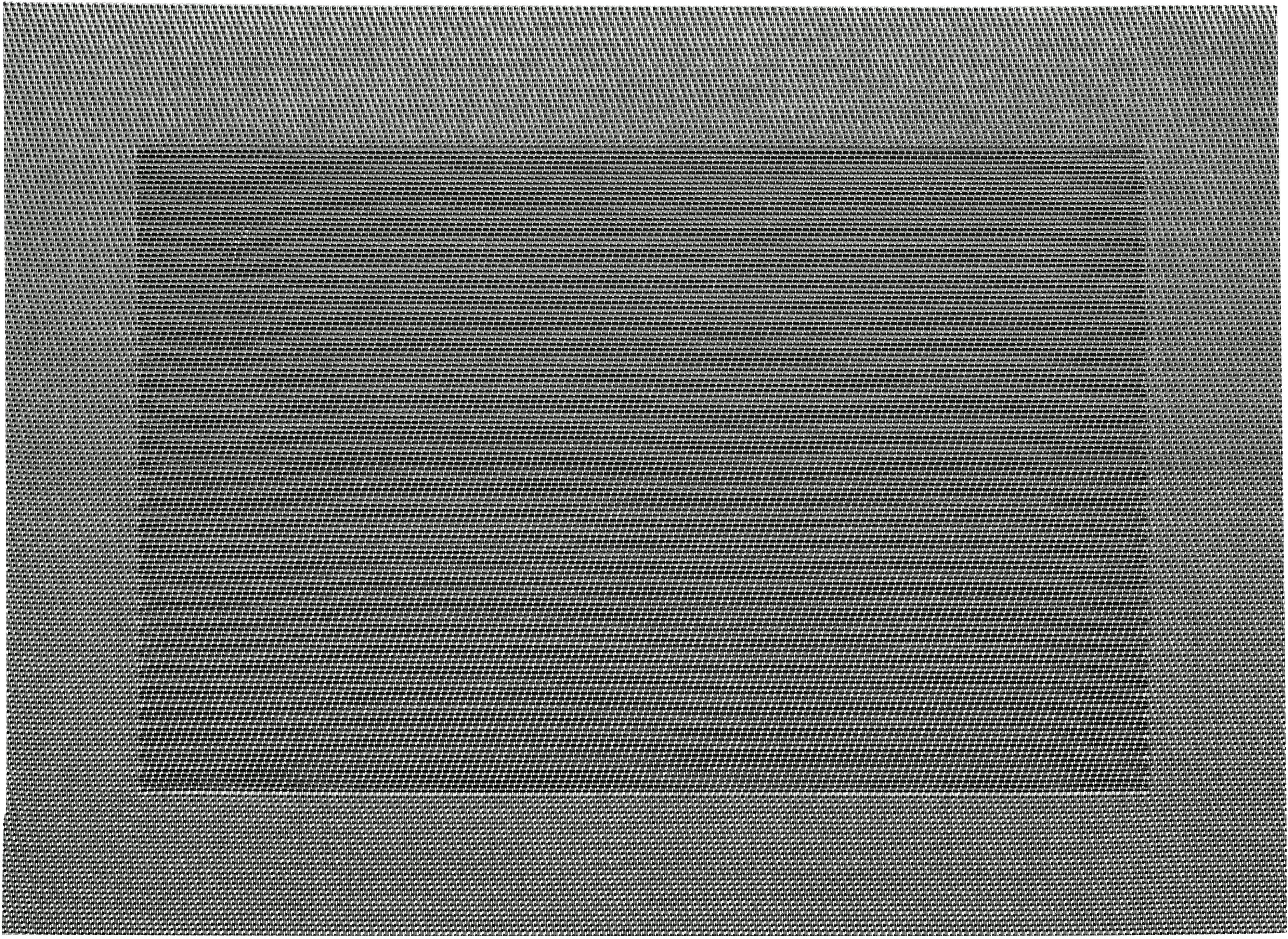 Manteles individuales de plástico Modern, 2uds., Plástico, Plateado, negro, An 33 x L 46 cm