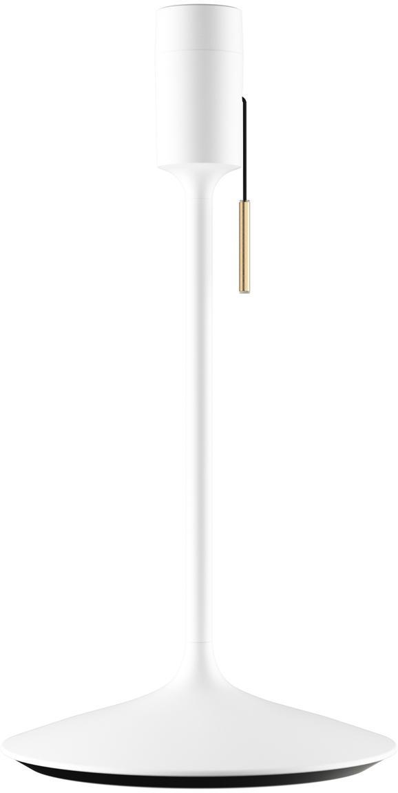 Tafellampvoet Champagne met USB-aansluiting, Lampvoet: gelakt aluminium, Wit, Ø 22 x H 42 cm