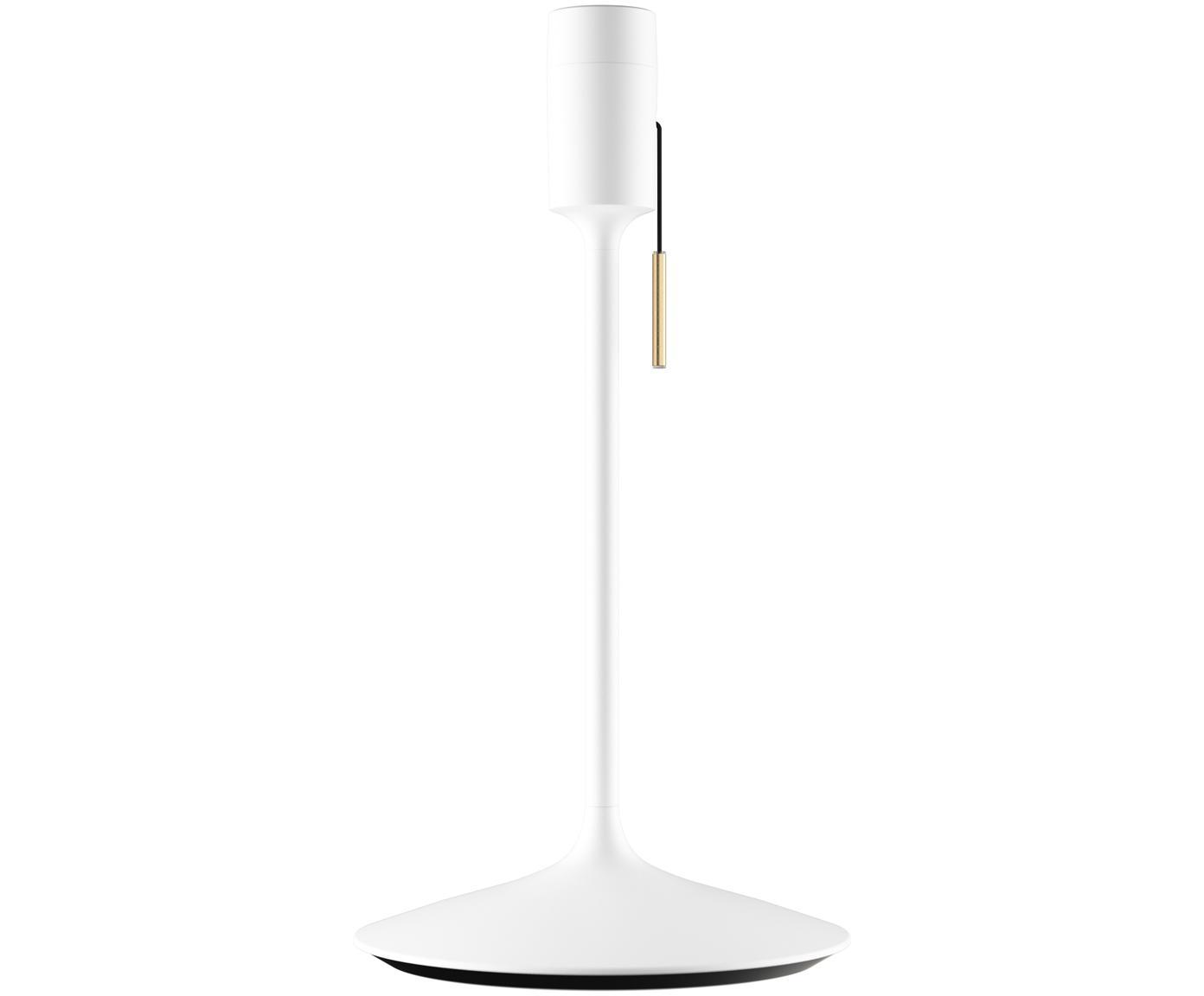 Base de la lámpara de mesa Champagne con puerto USB, Base de la lámpara: aluminio, pintado, Cable: plástico, Blanco, Ø 22 x Al 42 cm