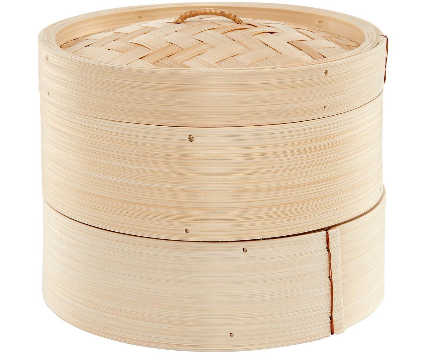 Bamboe opbergpot Hot Spot, Bamboe, Bamboekleurig, Ø 20 cm
