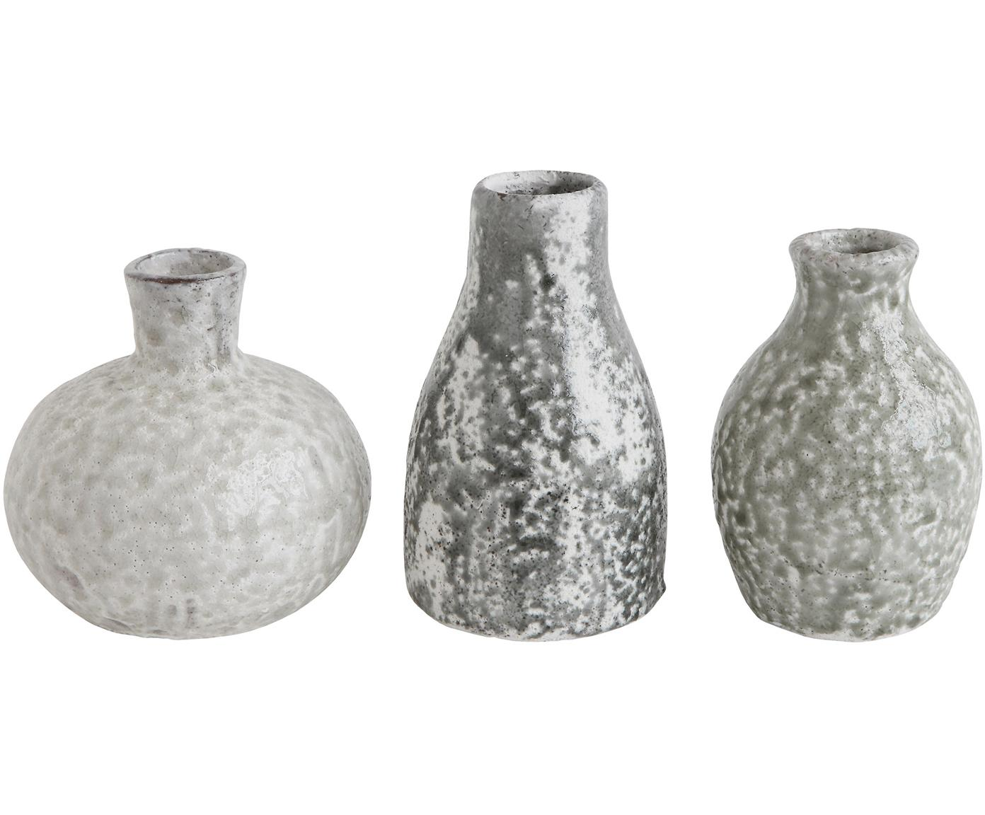 Deko-Vasen-Set Kronos aus Terracotta, 3-tlg., Terrakotta, Grautöne, Sondergrößen