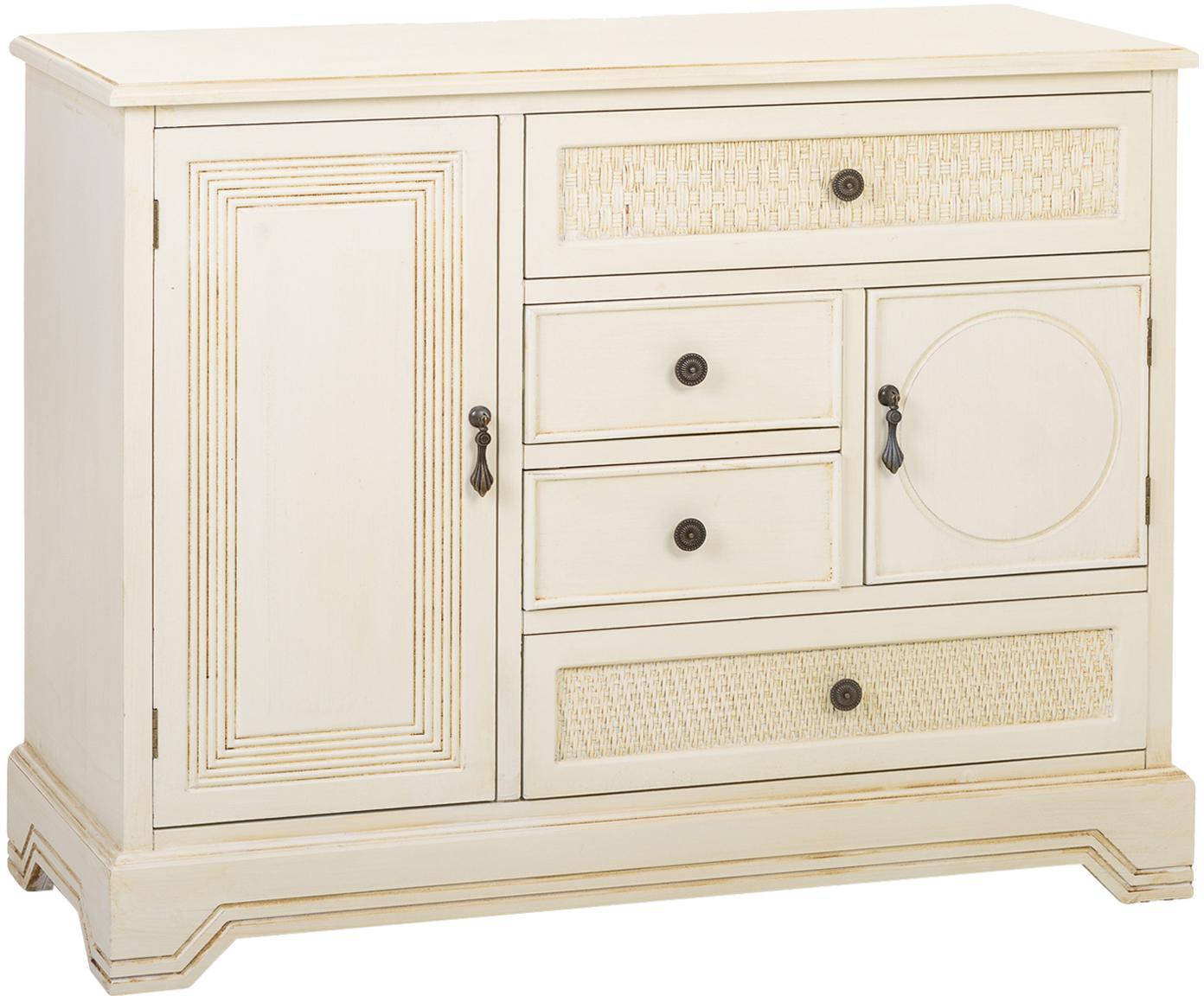 Aparador Gentle, Estructura: madera de abeto, tablero , Blanco, An 98 x Al 78 cm