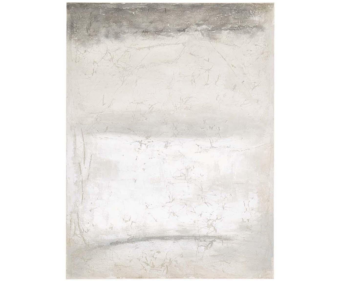 Ręcznie malowany druk na płótnie Shapes, Szary, S 90 x W 120 cm