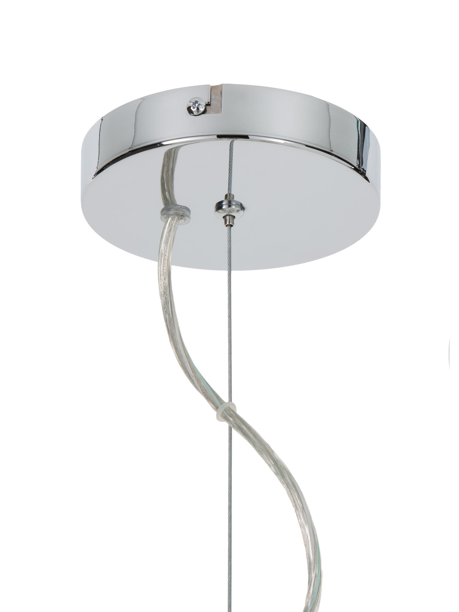 Lampada a sospensione in cromo Spike, Baldacchino: metallo cromato, Paralume: metallo cromato, Cromo, Ø 90 cm