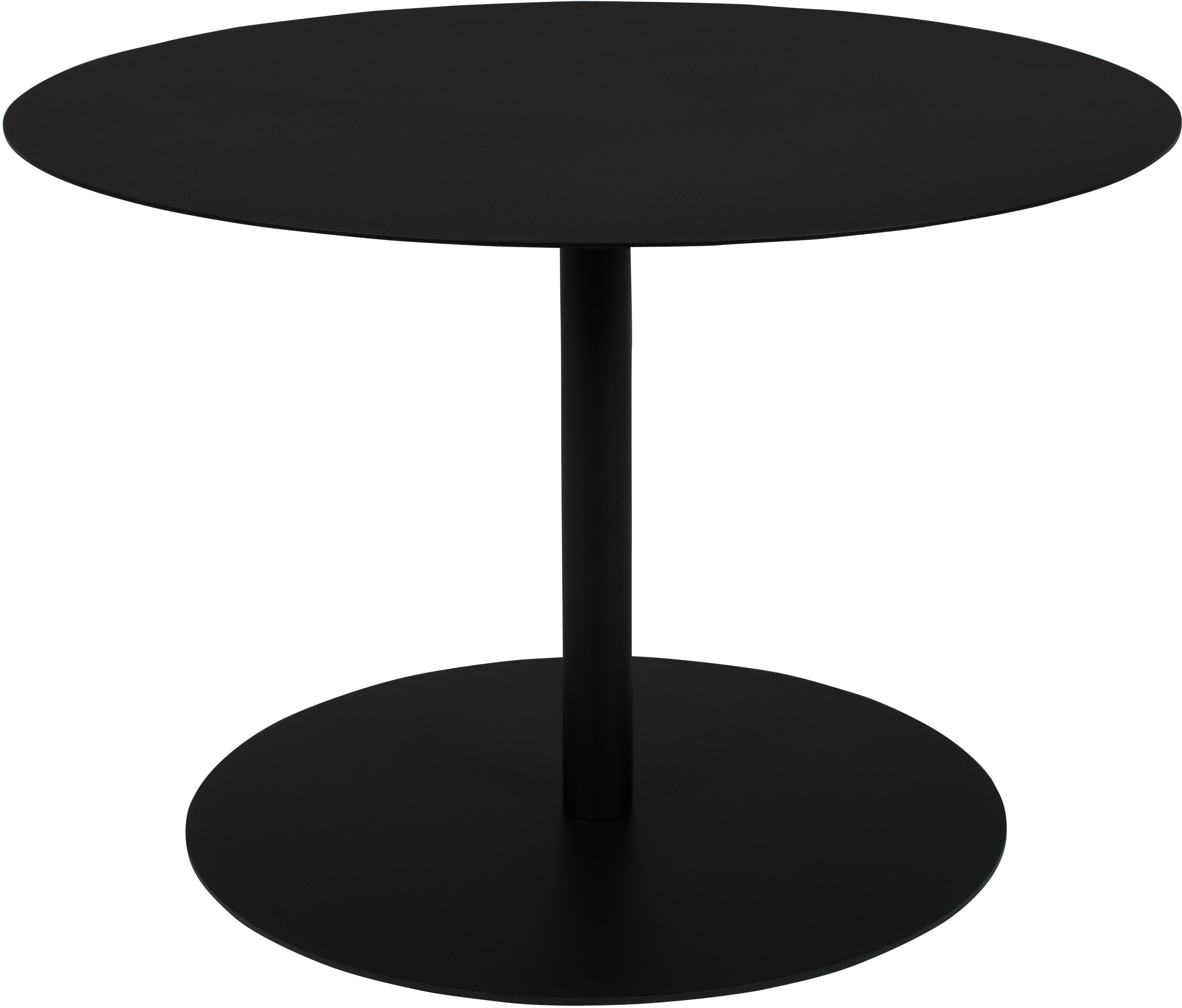 Tavolino da salotto in metallo Snow, Metallo verniciato a polvere, Nero, Ø 60 x Alt. 40 cm