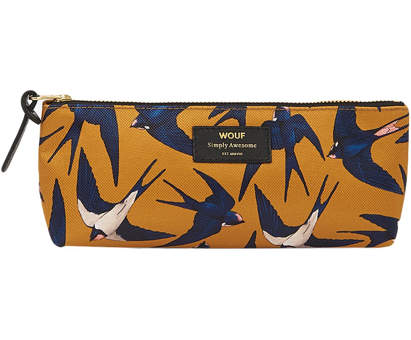Pennenetui Swallow, Polyester, leer, Geel, blauw, beige, 22 x 9 cm