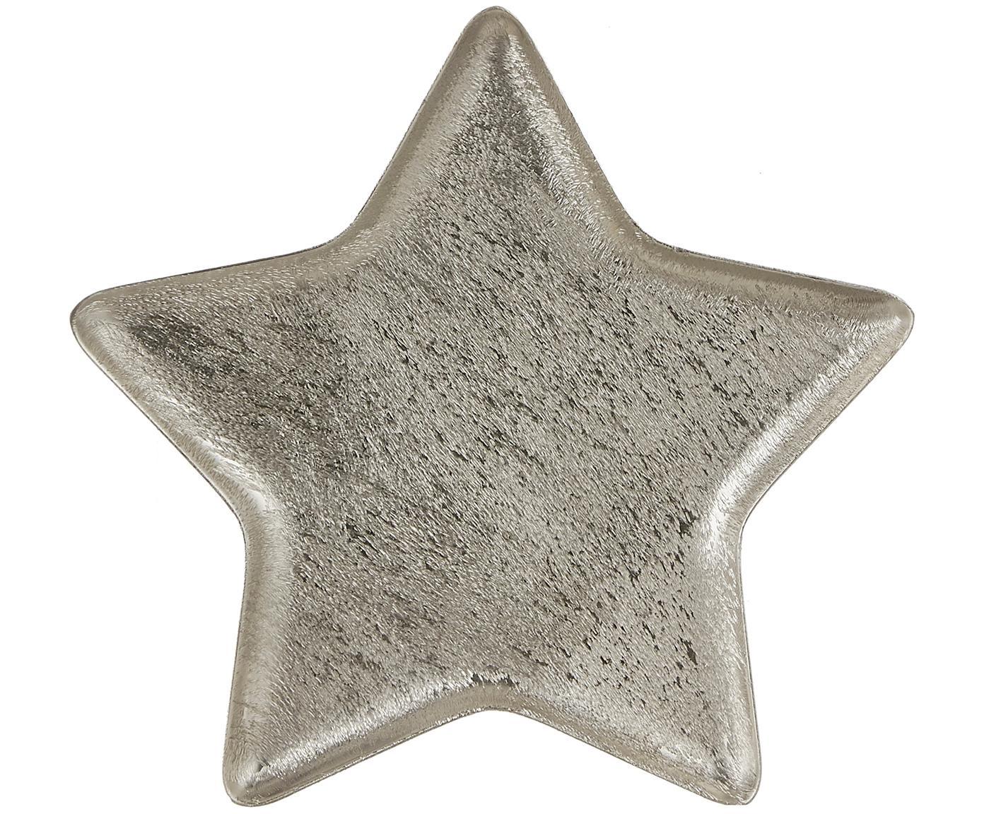 Servierteller Mace in Sternform, Aluminium, Aluminium, 25 x 2 cm