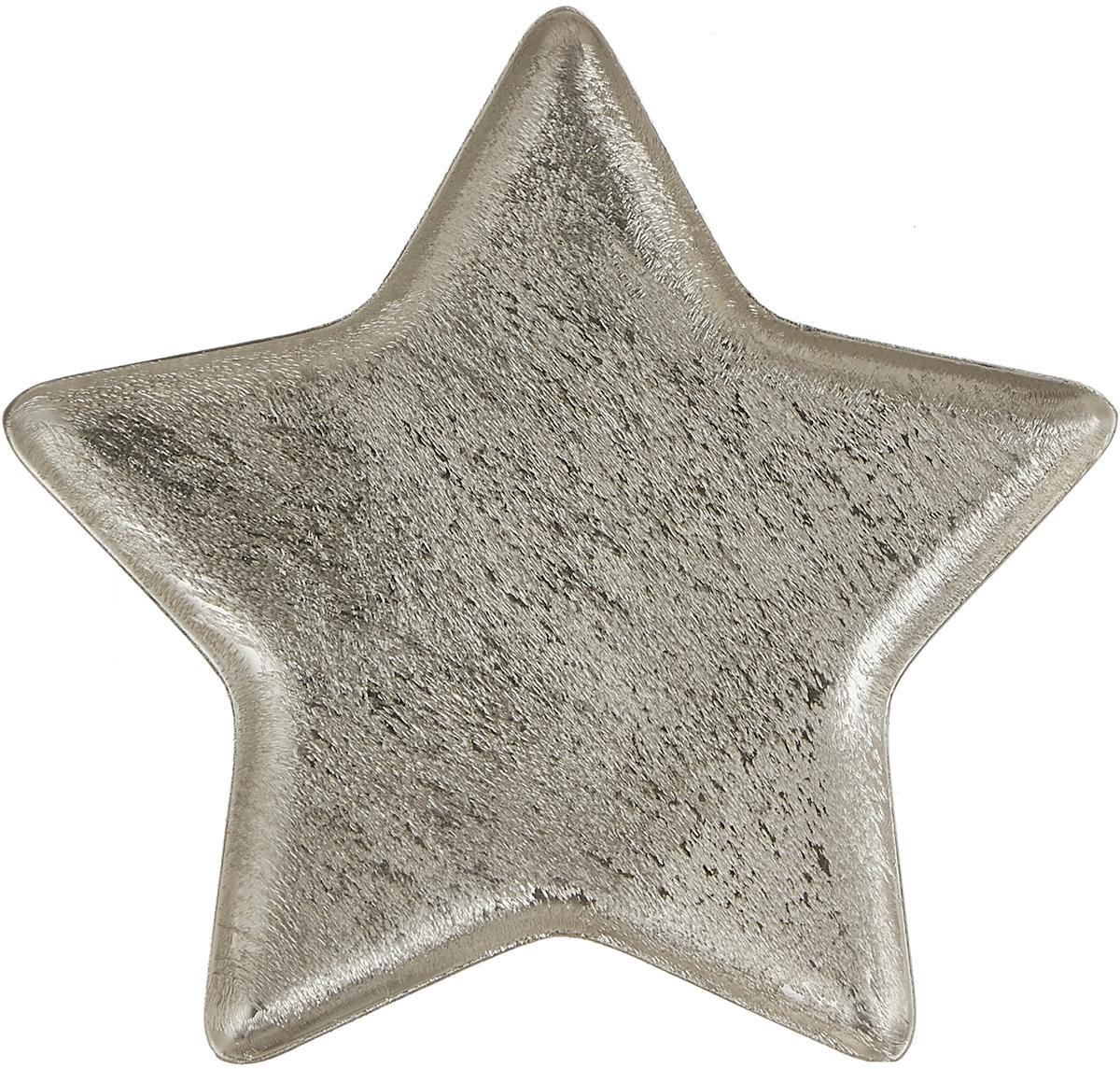 Piatto da portata a forma di stella Mace, Alluminio, Alluminio, Larg. 25 x Alt. 2 cm