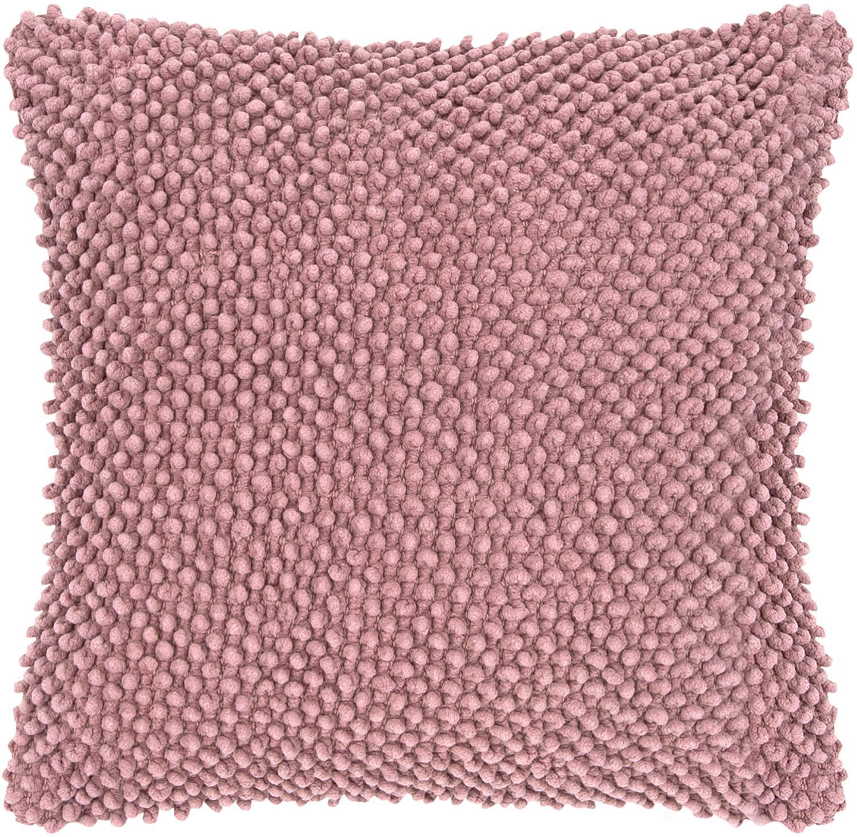 Federa arredo in cotone Indi, Cotone, Rosa cipria, Larg. 45 x Lung. 45 cm