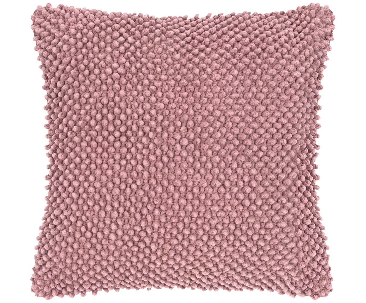 Kissenhülle Indi mit strukturierter Oberfläche, 100% Baumwolle, Altrosa, 45 x 45 cm