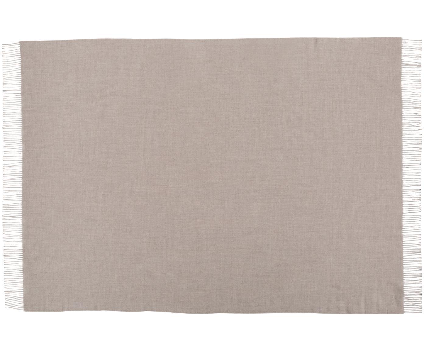 Alpacawollen plaid Luxury, Beige, 130 x 200 cm