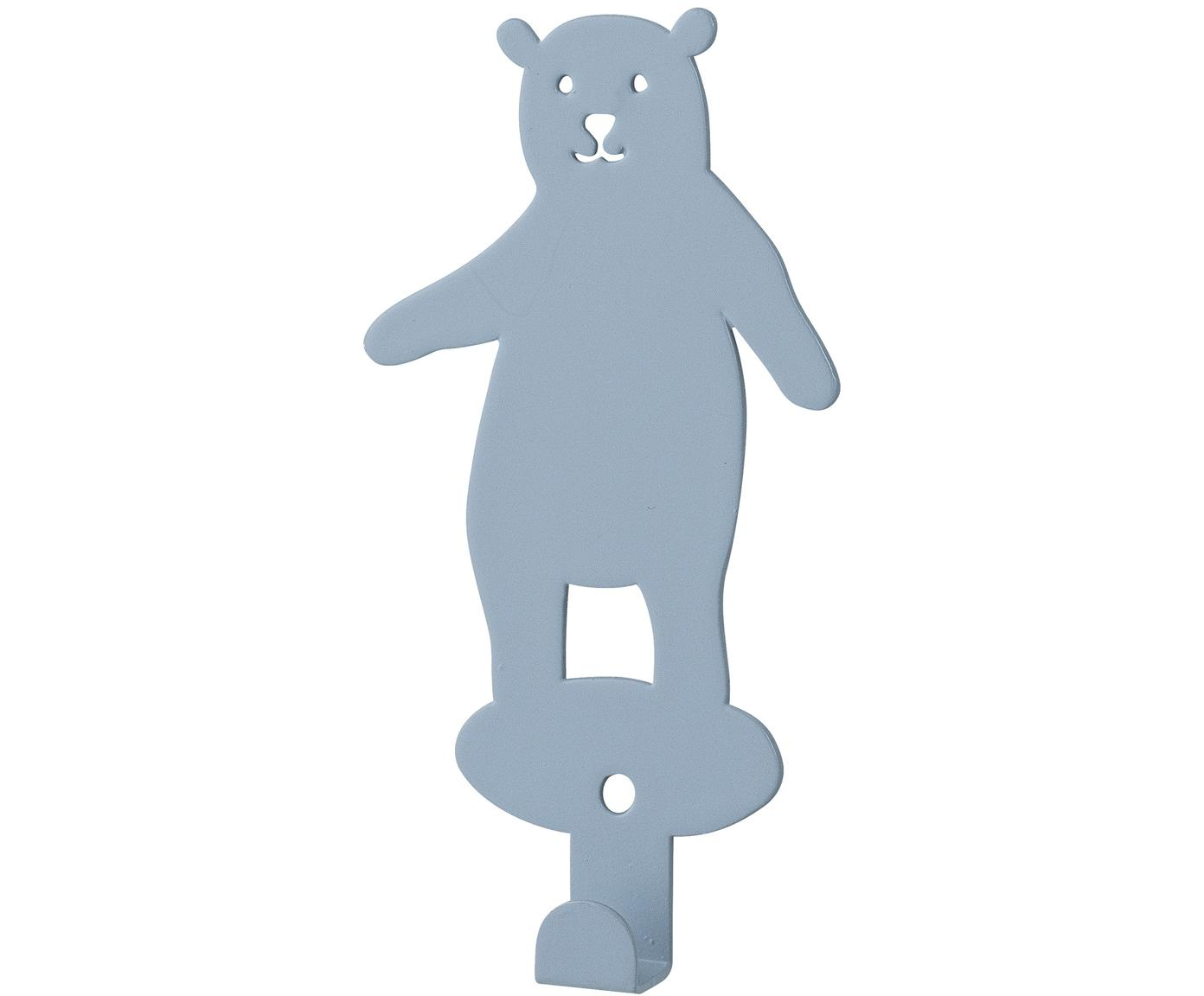 Hak ścienny Brownbear, Metal powlekany, Niebieski, S 7 x W 12 cm