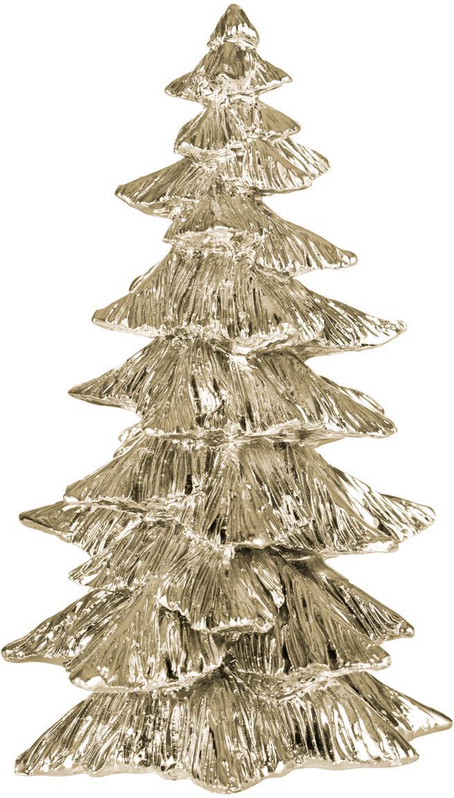 Deko-Objekt Serafina Christmas Tree, Polyresin, Goldfarben, Ø 10 x 15 cm