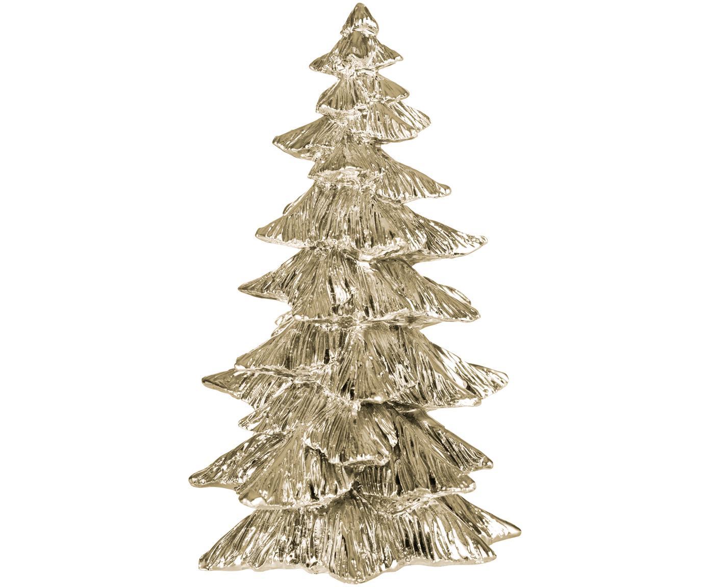 Decoratief object Serafina Christmas Tree, Polyresin, Goudkleurig, Ø 10 x H 15 cm