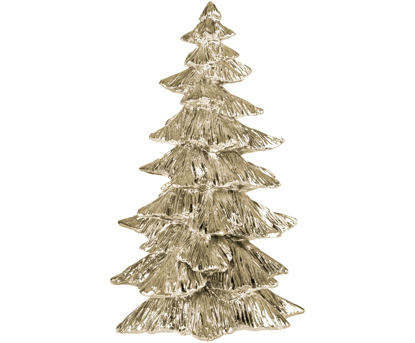 Pieza decorativa Serafina Christmas Tree, Poliresina, Dorado, Ø 10 x 15 cm