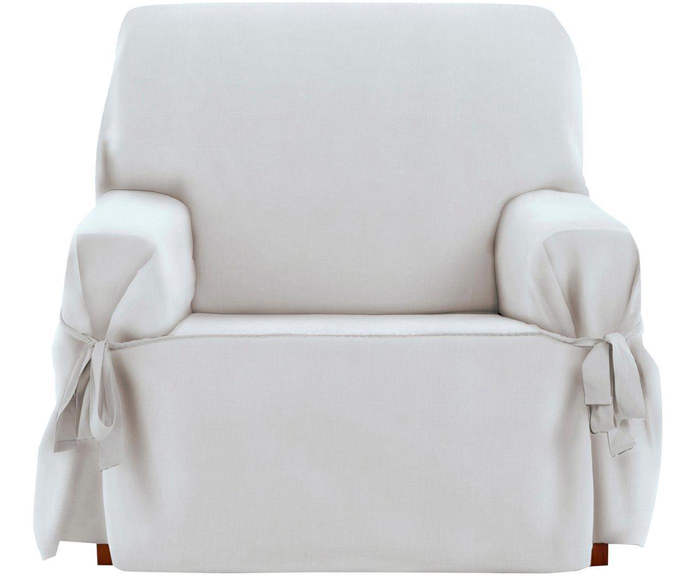 Funda de sillón Levante, 50%algodón, 50%poliéster, Blanco, An 120 x Al 110 cm