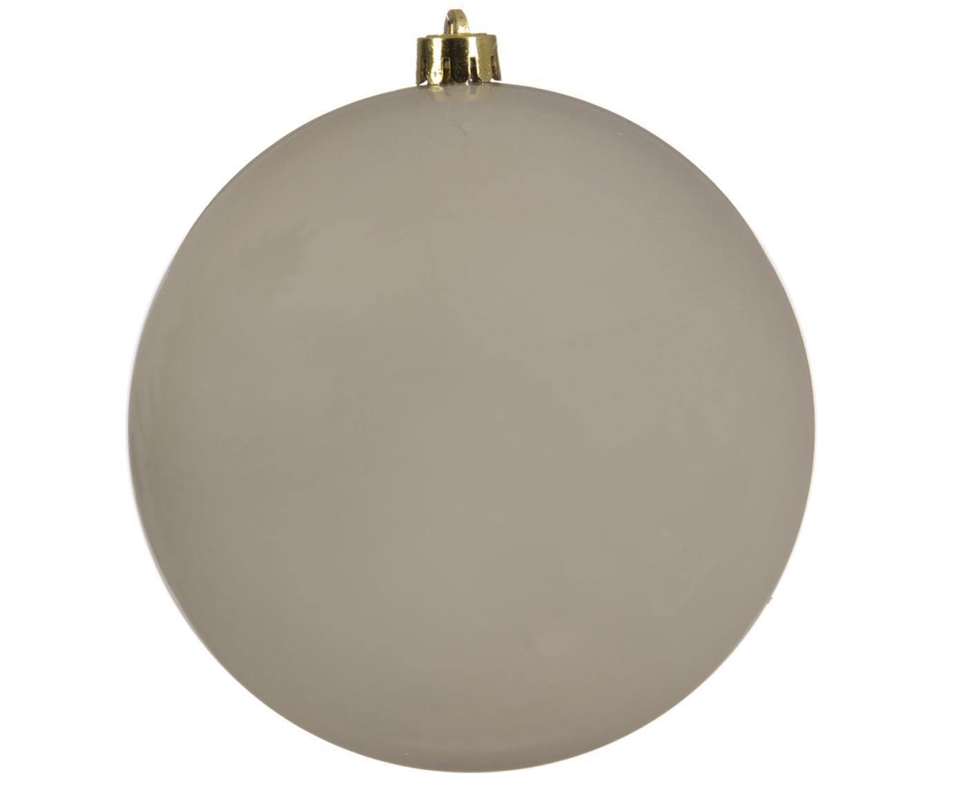 XL Weihnachtskugel Minstix, Kunststoff, Beige, Ø 20 cm