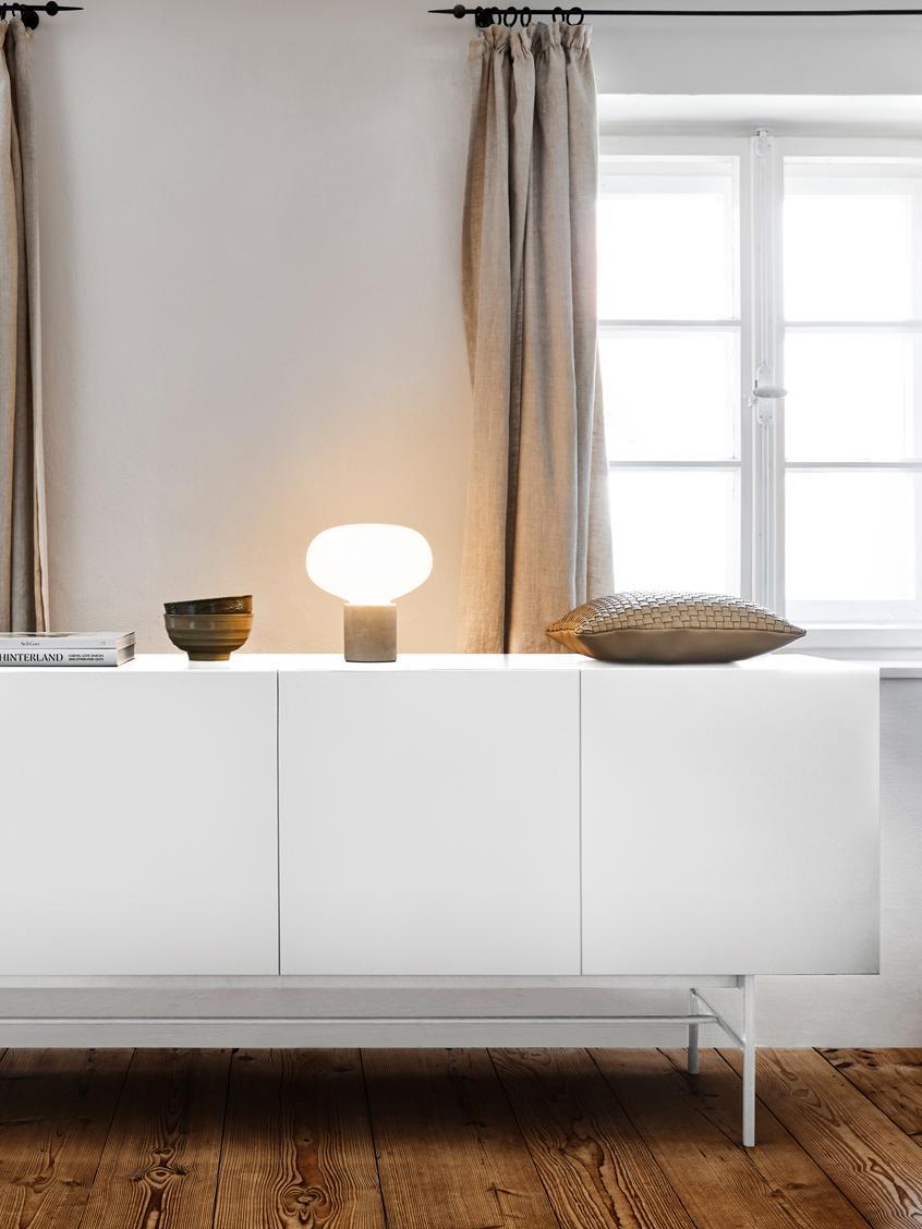 Modernes Sideboard Anders, Korpus: Mitteldichte Holzfaserpla, Füße: Metall, pulverbeschichtet, Korpus: WeißFüße: Weiß, matt, 160 x 80 cm