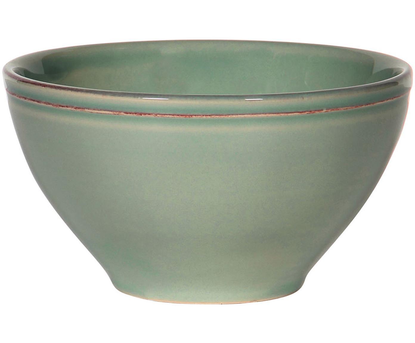 Cuencos Cosntance, 2uds., estilo rústico, Cerámica, Verde salvia, Ø 15 x Al 9 cm