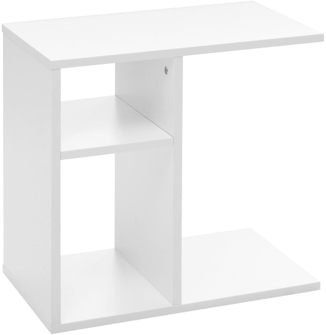 Stolik pomocniczy Milo, Płyta wiórowa, foliowana, Biały, S 50 x G 30 cm