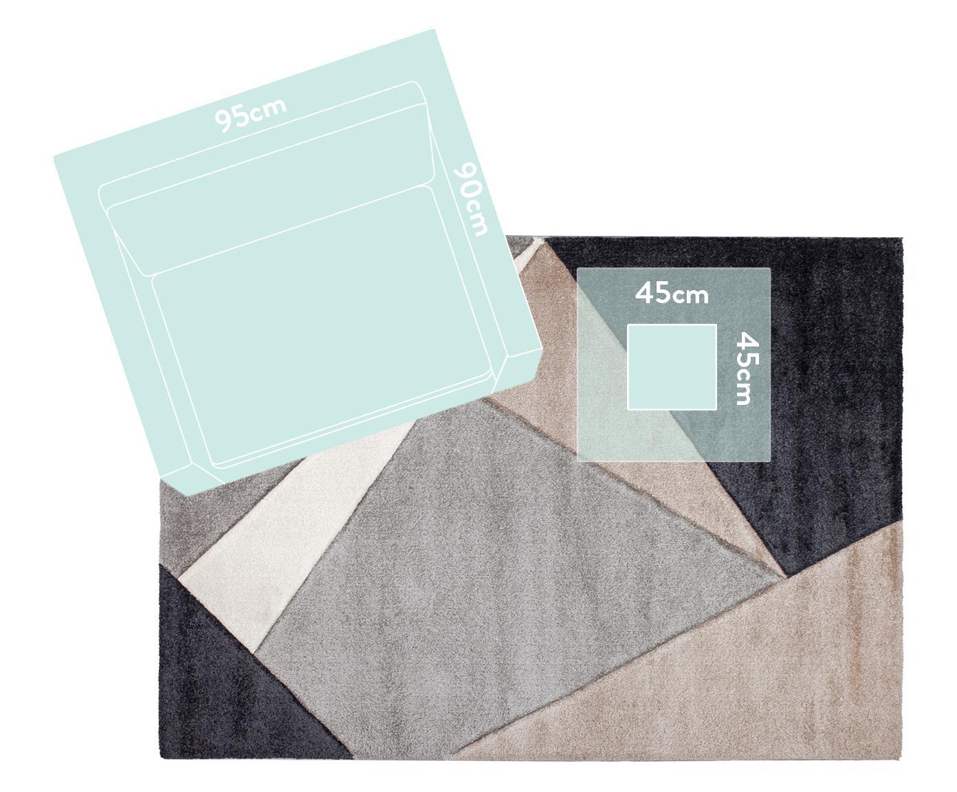 Teppich My Broadway mit geometrischem Muster in Beige-Grau, Flor: 100% Polypropylen, Taupe, Beige, Anthrazit, Grau, B 200 x L 290 cm (Größe L)