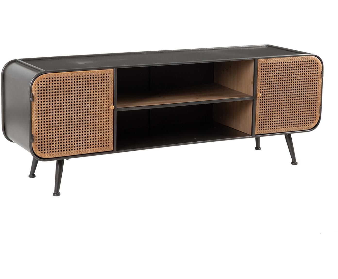 Mueble TV Dugun, Marrón, negro, An 150 x Al 55 cm