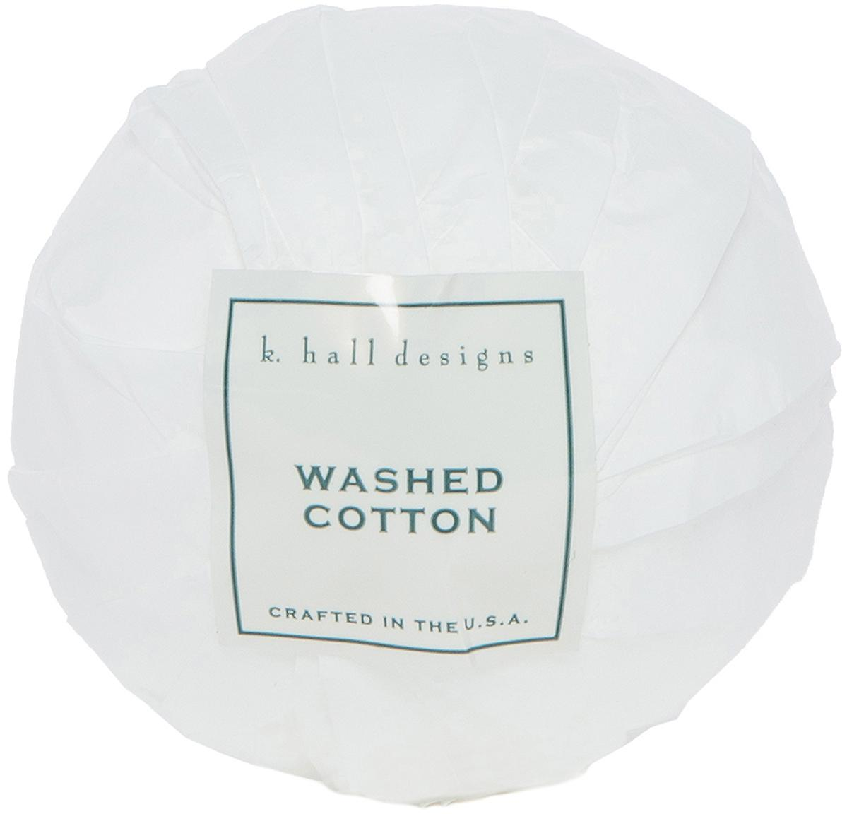 Badekugel Washed Cotton (Lavendel & Kamille), Weiß, Ø 7 x H 7 cm