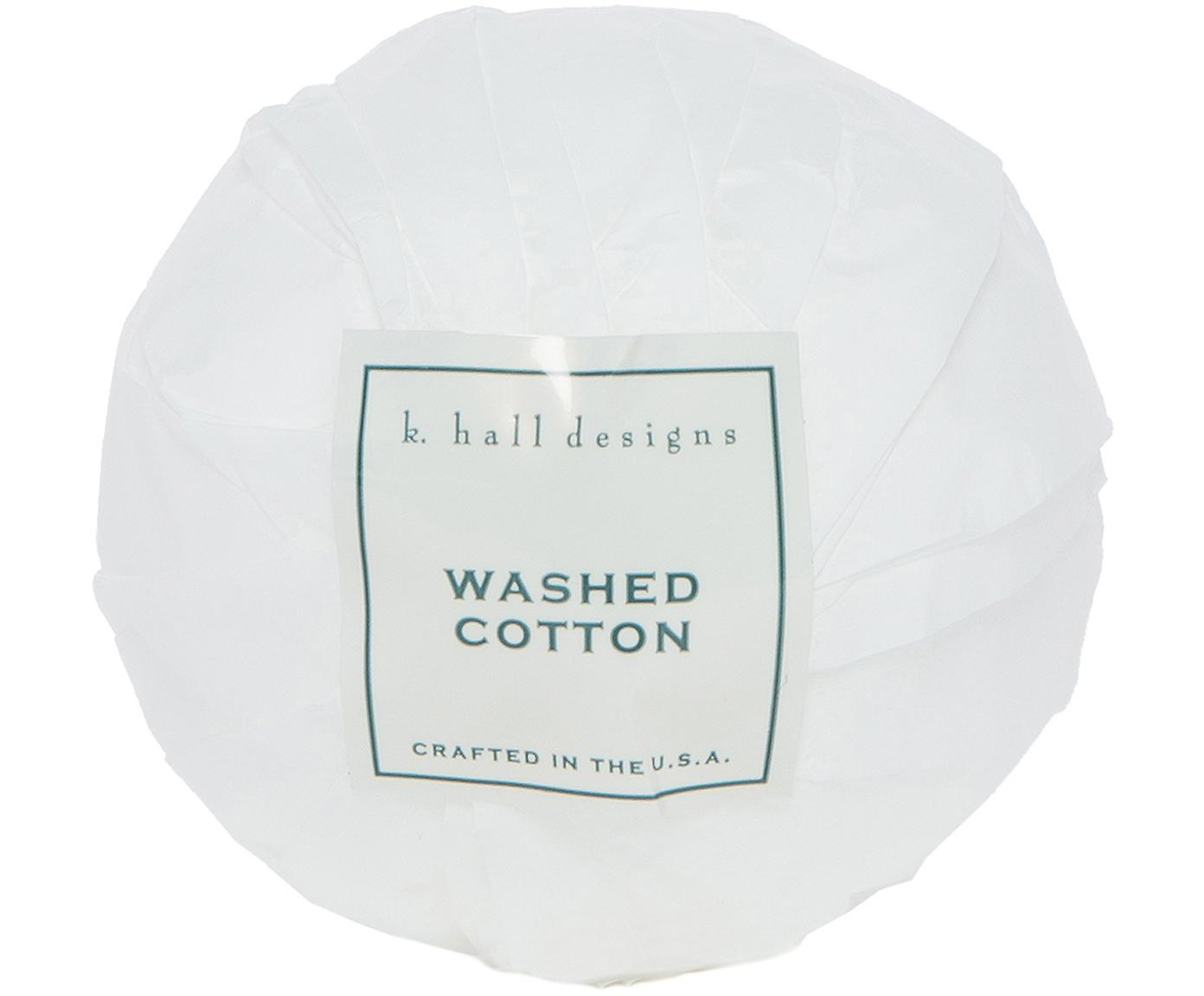 Badbruisbal Washed Cotton (lavendel & kamille), Wit, Ø 7 x H 7 cm