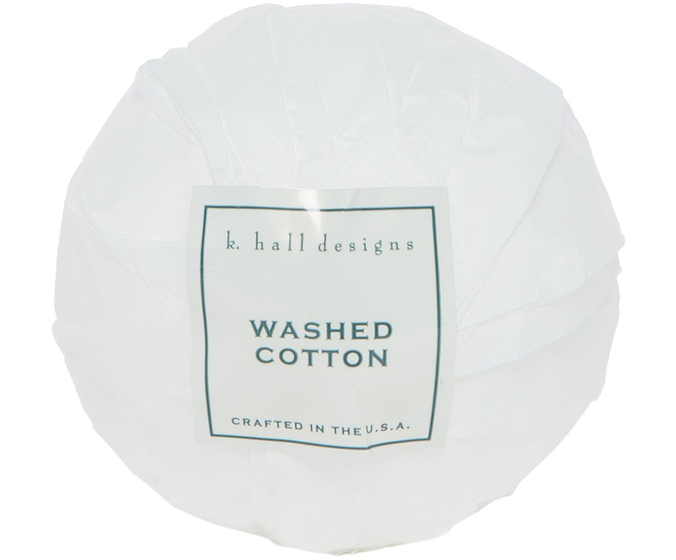 Badekugel Washed Cotton (Lavendel & Kamille), Weiß, Ø 7 x H 7 cm