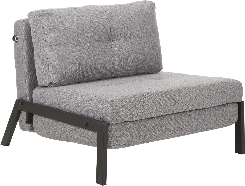 Fotel rozkładany Edward, Tapicerka: 100% poliester 40000 cyk, Jasny szary, S 96 x G 98 cm