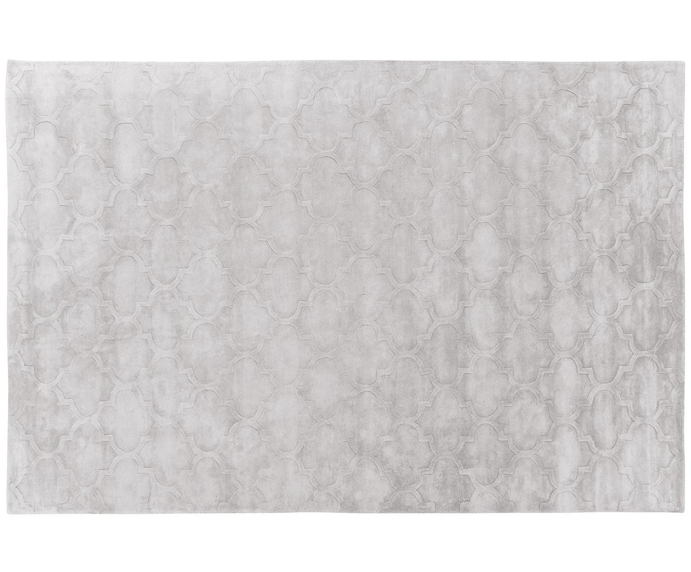Ręcznie tuftowany dywan z wiskozy Magali, Jasny szary, S 200 x D 300 cm
