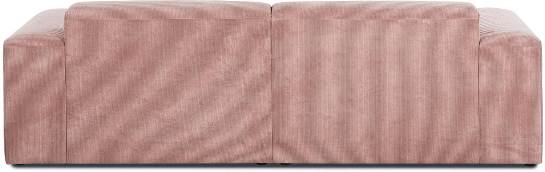 Cord-Sofa Melva (3-Sitzer), Bezug: Cord (92% Polyester, 8% P, Gestell: Massives Kiefernholz, Spa, Füße: Kiefernholz, Cord Rosa, B 240 x T 101 cm