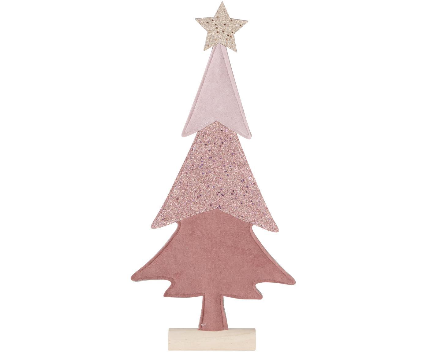 Oggetto decorativo Debra, Legno di pino, feltro, Tonalità rosa, legno di pino, Larg. 23 cm