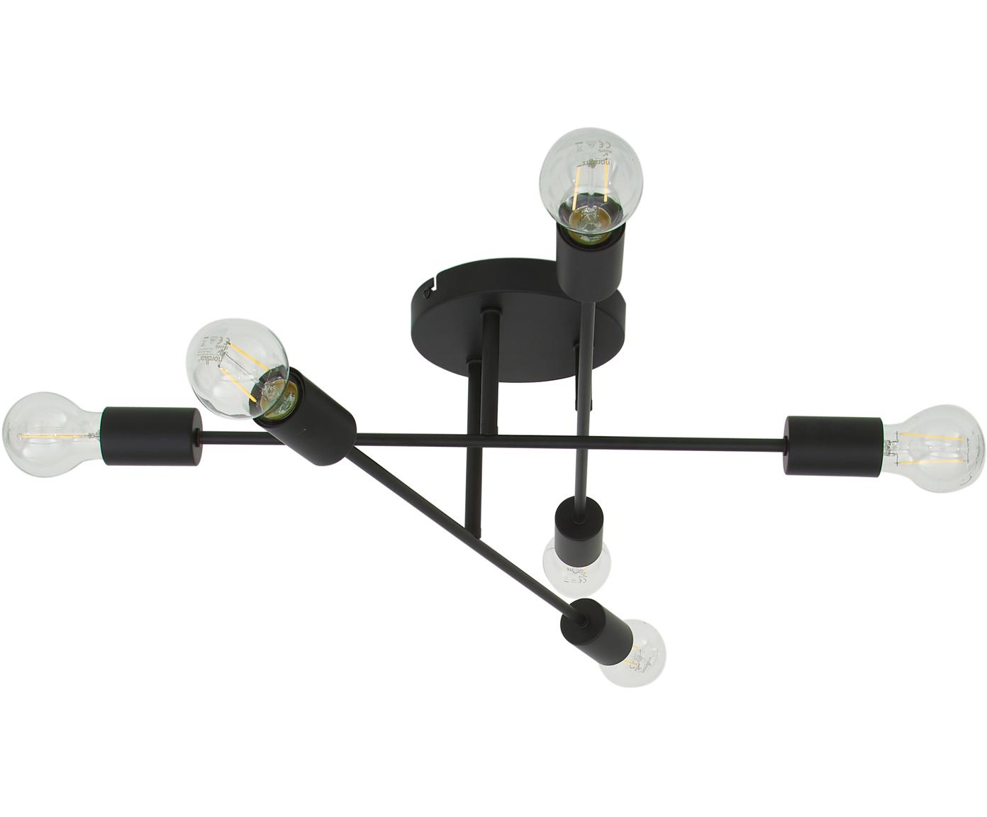 Lampa sufitowa Visby, Czarny, matowy, Ø 55 x W 20 cm