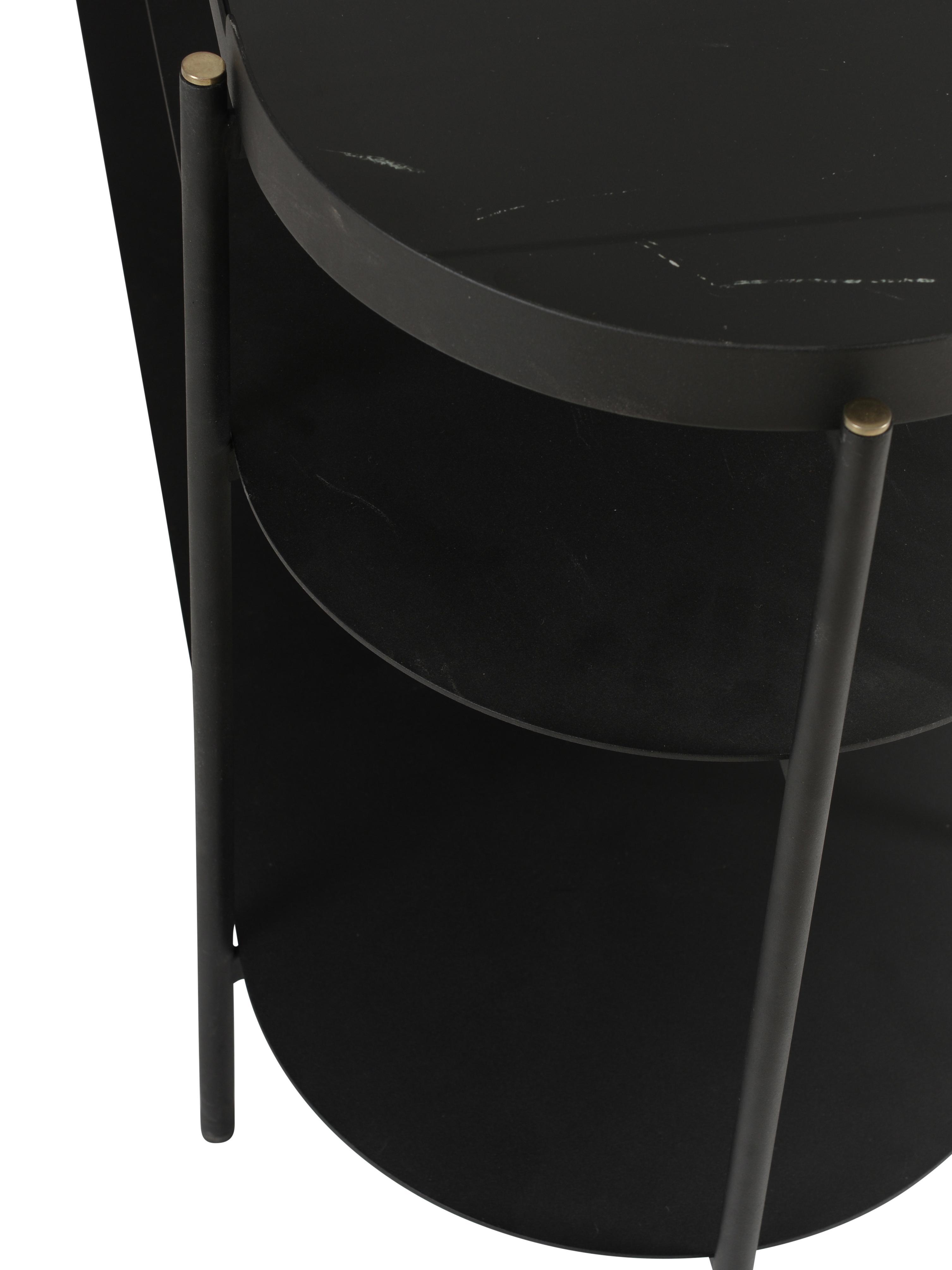 Consolle in nero marmorizzato Complice, Nero, marmo, Larg. 140 x Prof. 38 cm