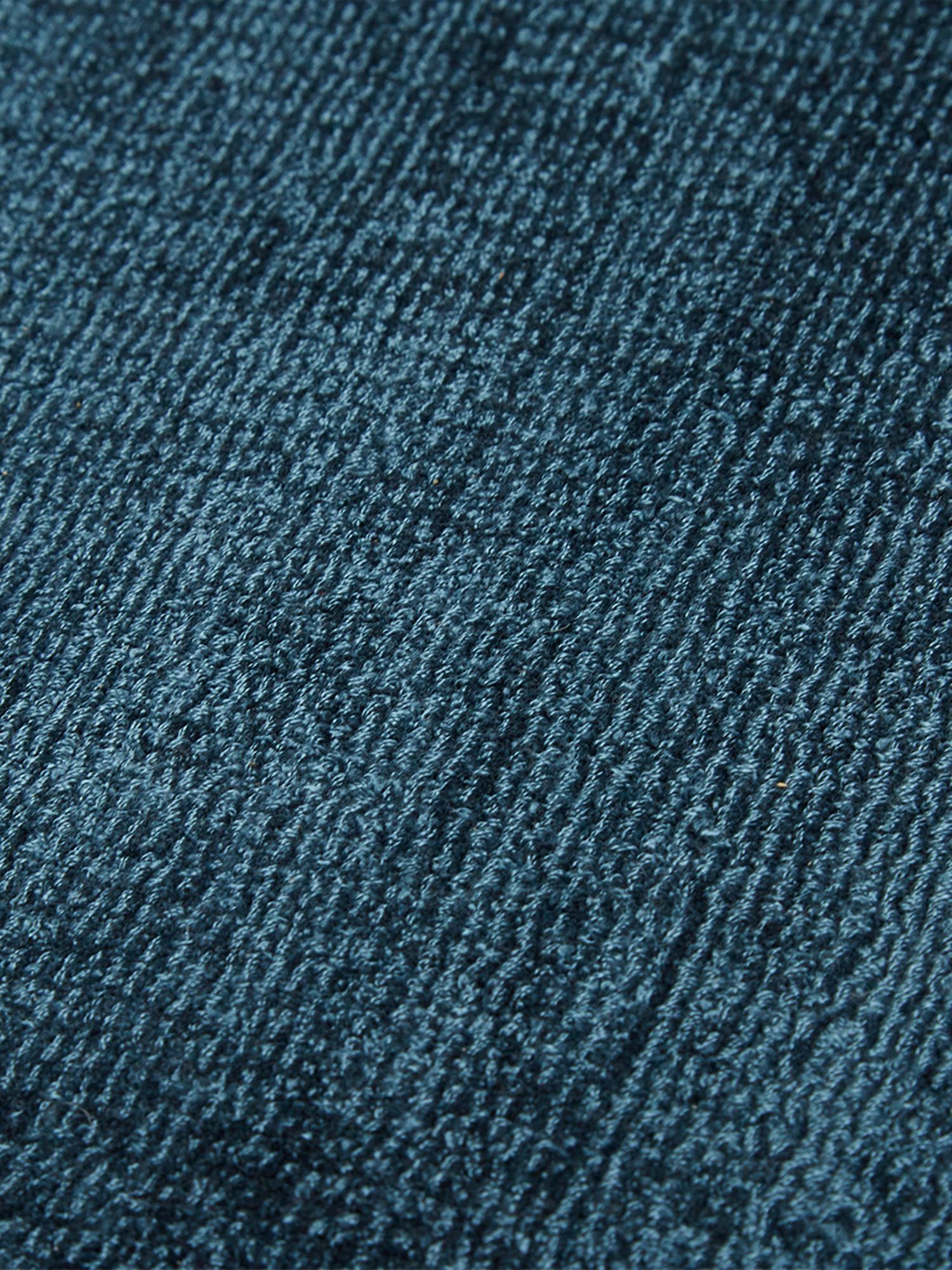 Tappeto in viscosa tessuto a mano Jane, Retro: 100% cotone, Petrolio, Larg. 200 x Lung. 300 cm (taglia L)