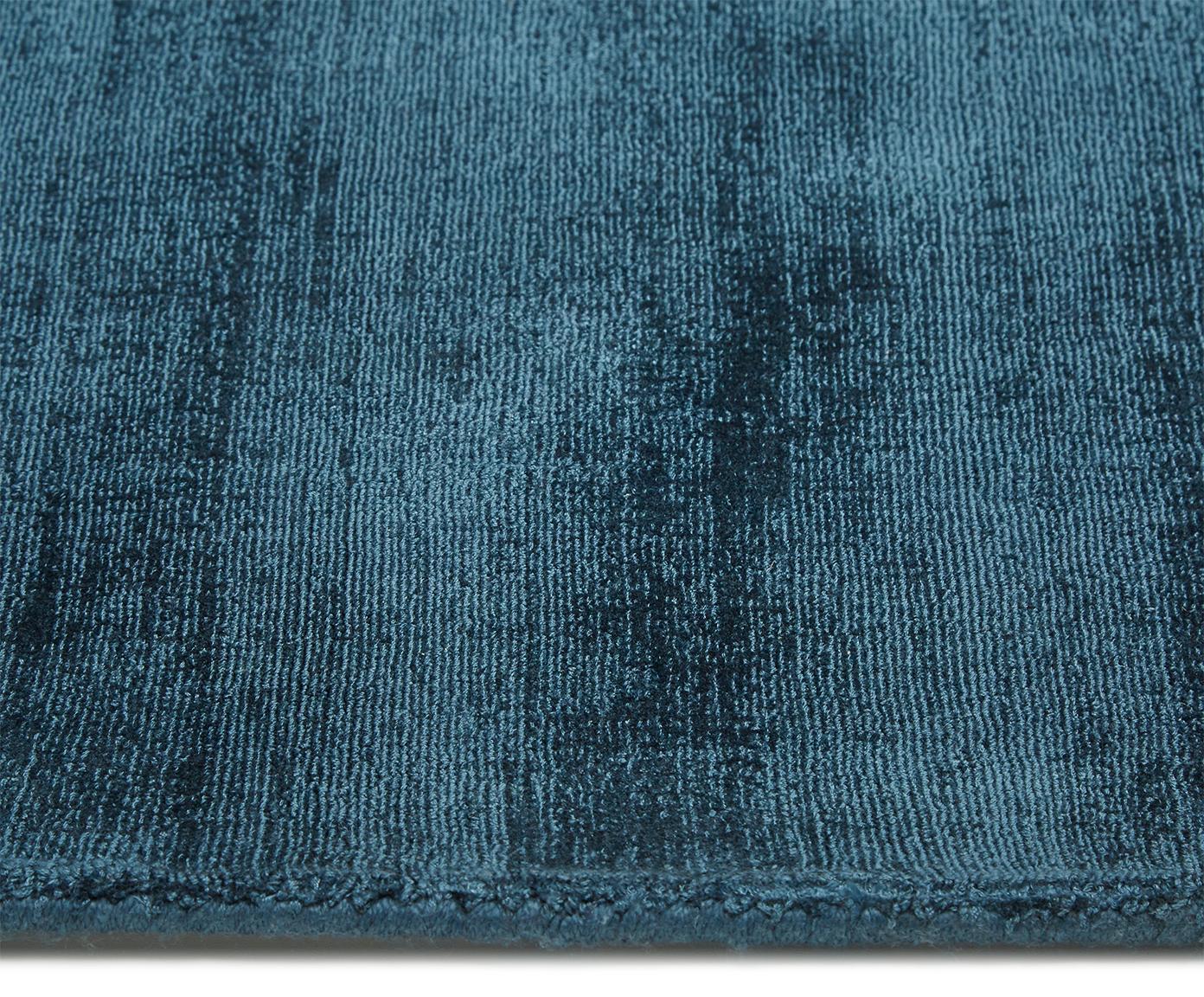 Ręcznie tkany dywan z wiskozy Jane, Petrol, S 160 x D 230 cm (Rozmiar M)