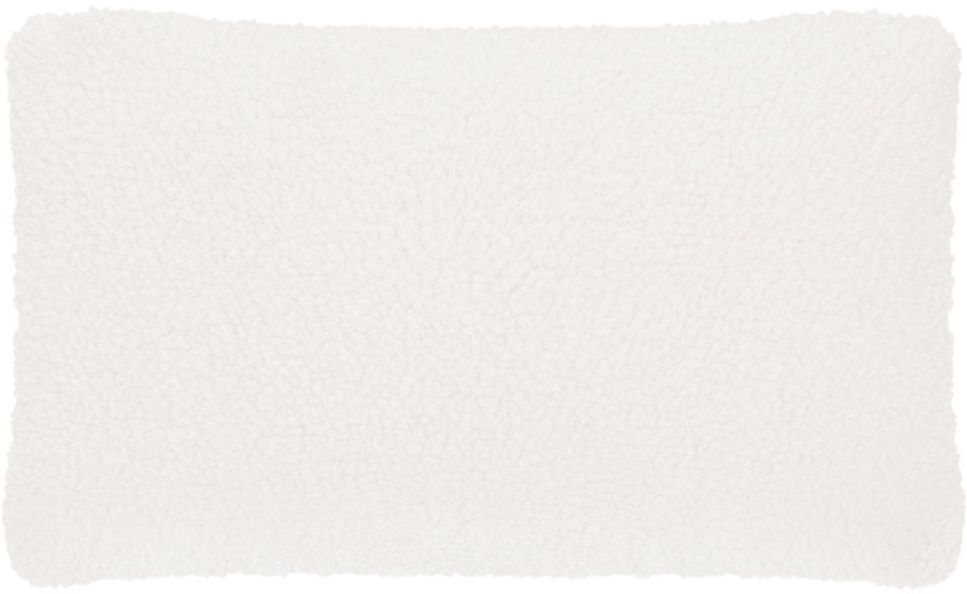 Federa arredo in teddy Mille, Retro: 100% poliestere (teddy), Crema, Larg. 30 x Lung. 50 cm