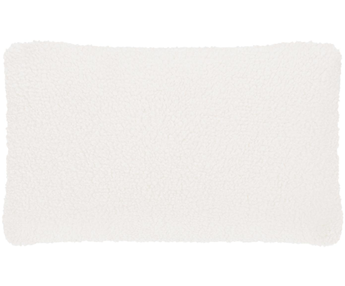 Funda de cojín de borreguillo Mille, Funda: poliéster (borreguillo), Crema, An 30 x L 50 cm