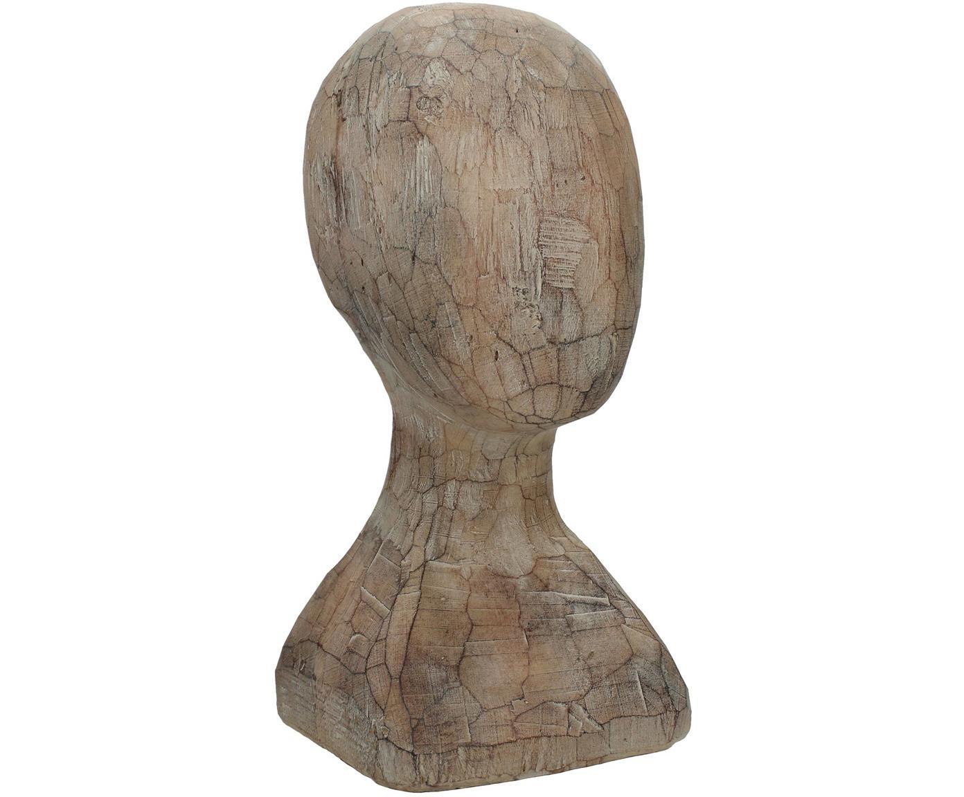 Dekoracja Head, Poliresing, Brązowy, S 15 x W 30 cm