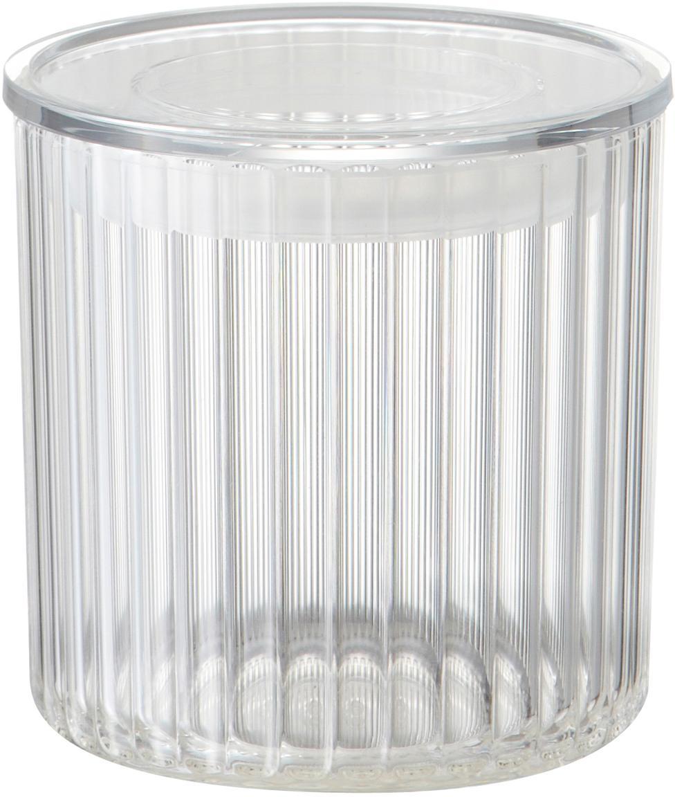 Aufbewahrungsdose Fonte aus Kunststoff, Kunststoff (PMS), Transparent, Ø 10 x H 11 cm
